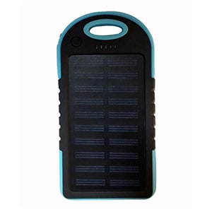 UIMI U3 MINI Solar Charging, Waterproof and Dustproof USB Universal Power Bank 4000 mAh Blue