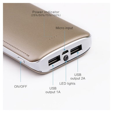 Uimi U8 Power Bank 15600 mAh Golden images, Buy Uimi U8 Power Bank 15600 mAh Golden online