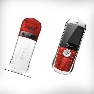 Unboxed Kenxinda M66, Dual Sim, 1.8 Inch Display (Red) Price in India