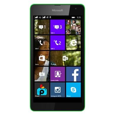 UNBOXED Microsoft Lumia 535 (Green, 1GBRAM RAM, 8GB) Price in India