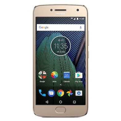 Refurbished Moto G5 Plus +Free Earphone with Mic for All Android/iPhones (Gold, 4GB RAM, 32GB) Price in India
