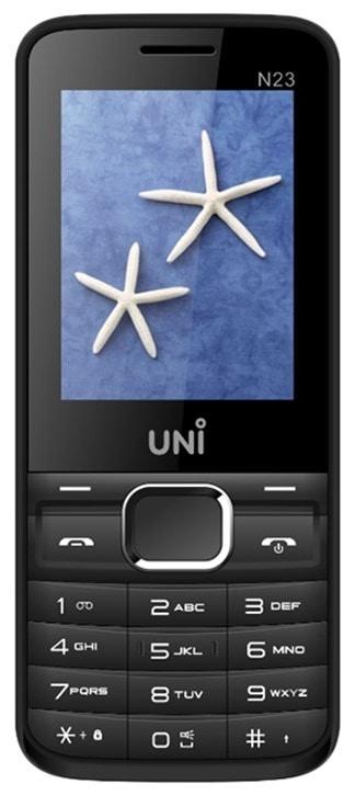 Buy Uni N23 Dual SIM Feature Phone Black, 64 MB online