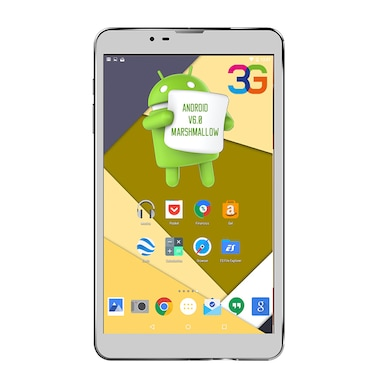 UNIC N3 Big Speaker and Cover 3G + Wifi Voice Calling Tablet White,8GB Price in India