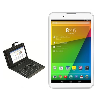 UNIC U1 3G + Wifi Voice calling Tablet With Keyboard White, 4GB Price in India