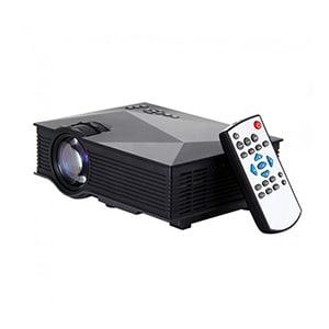 Unic UC46 1200 Lumens Portable Multimedia HD Mini LED Projector Black