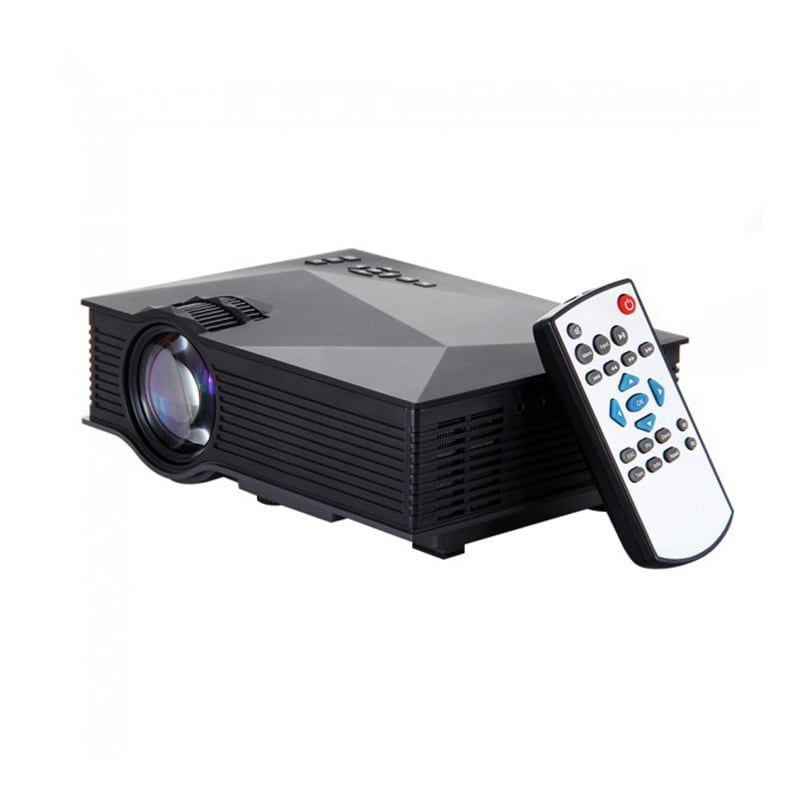 Buy Unic UC46 1200 Lumens Portable Multimedia HD Mini LED Projector Black online
