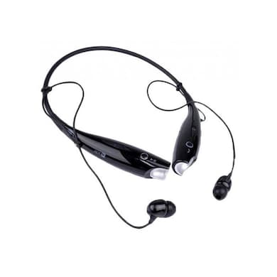Universal HBS-730 Bluetooth Wireless Stereo Headset with Mic Black Price in India