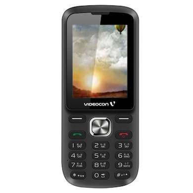 Videocon Bazoomba V2DA Dual SIM (Black and Silver) Price in India
