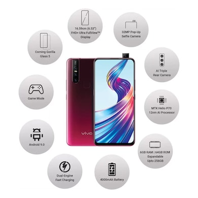 Vivo V15 (Glamour Red, 6GB RAM, 64GB) Price in India