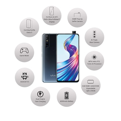 Vivo V15 (Frozen Black, 6GB RAM, 64GB) Price in India