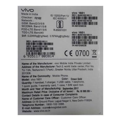 VIVO V5 (Crown Gold, 4GBRAM RAM, 32GB) Price in India