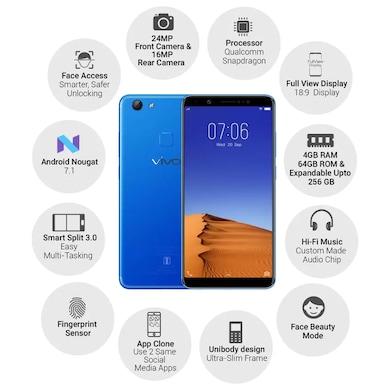 Vivo V7+ (Energetic Blue, 4GB RAM, 64GB) Price in India