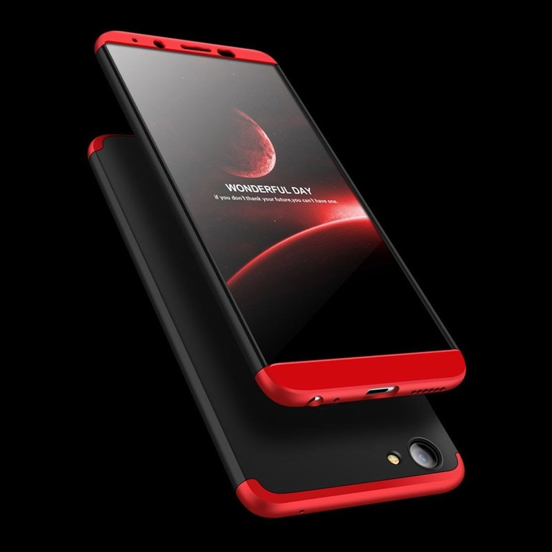 newest collection 169ed 6f78c Vivo V7 Plus V7+ New 3 in 1 Luxury Matte Finish 360 Hybrid Back Case Cover  Black and Red Price in India – Buy Vivo V7 Plus V7+ New 3 in 1 Luxury ...