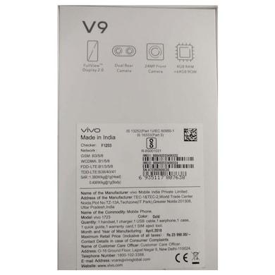 Vivo V9 (Pearl Black (Golden Line), 4GB RAM, 64GB) Price in India