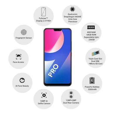 Vivo V9 Pro (Black, 4GB RAM, 64GB) Price in India