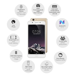 Vivo Y69 (3 GB RAM, 32 GB) Gold images, Buy Vivo Y69 (3 GB RAM, 32 GB) Gold online at price Rs. 12,999