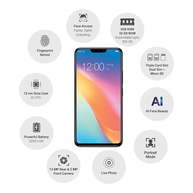 Vivo Y81 (Black, 3GB RAM, 32GB) Price in India