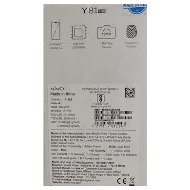 Vivo Y81 (Black, 4GB RAM, 32GB) Price in India