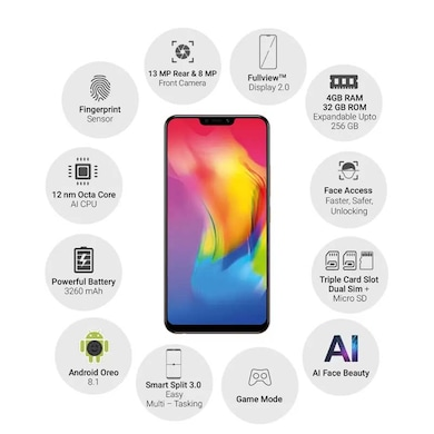 Vivo Y83 (Gold, 4GB RAM, 32GB) Price in India