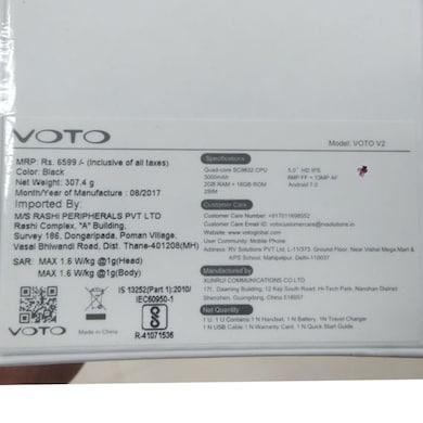 Voto V2 (Black, 2GB RAM, 16GB) Price in India
