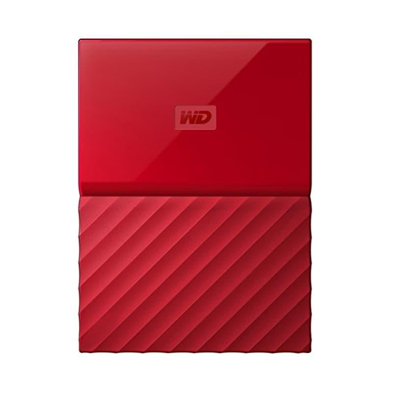 WD My Passport 2TB Portable External Hard Drive 3.0 USB Red