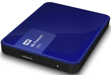 WD Passport Ultra 1 TB Portable External Hard Drive Blue Price in India