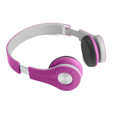 Xoofer Compact F3 Bluetooth Headphones Pink Price in India