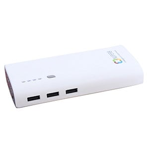 Xuperb M5-130 3 USB Port Power Bank 13000 mAh White and Grey