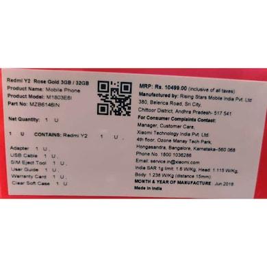 Redmi Y2 (Black, 3GB RAM, 32GB) Price in India