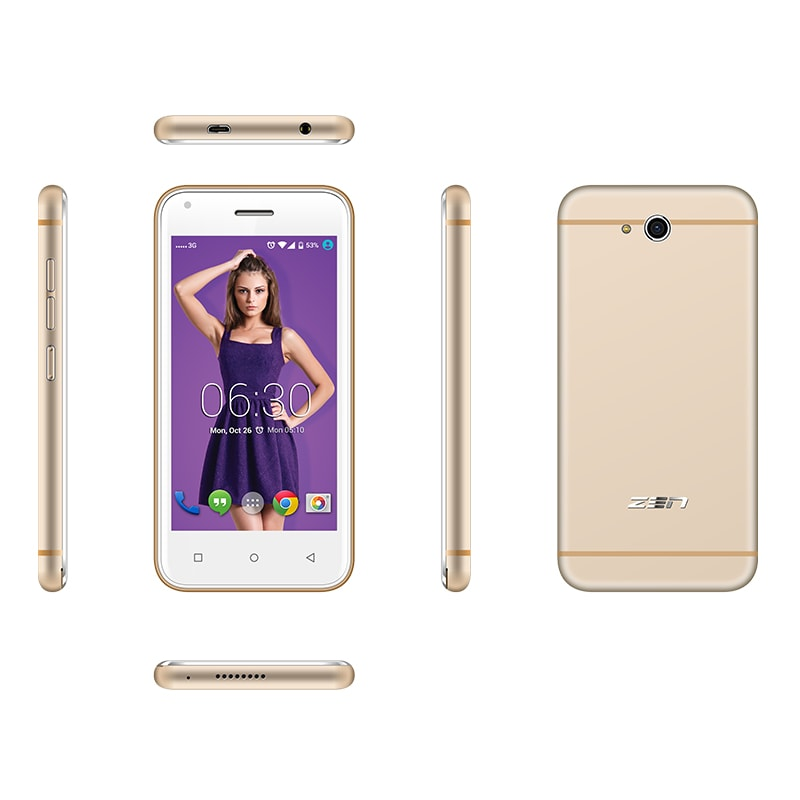 Buy Zen Admire SXY with Free Back Cover Gold, 8 GB online