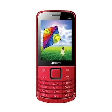 ZEN M72 New Dual SIM Feature Phone Red images, Buy ZEN M72 New Dual SIM Feature Phone Red online at price Rs. 1,299
