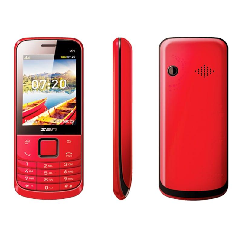 Buy ZEN M72 New Dual SIM Feature Phone Red online