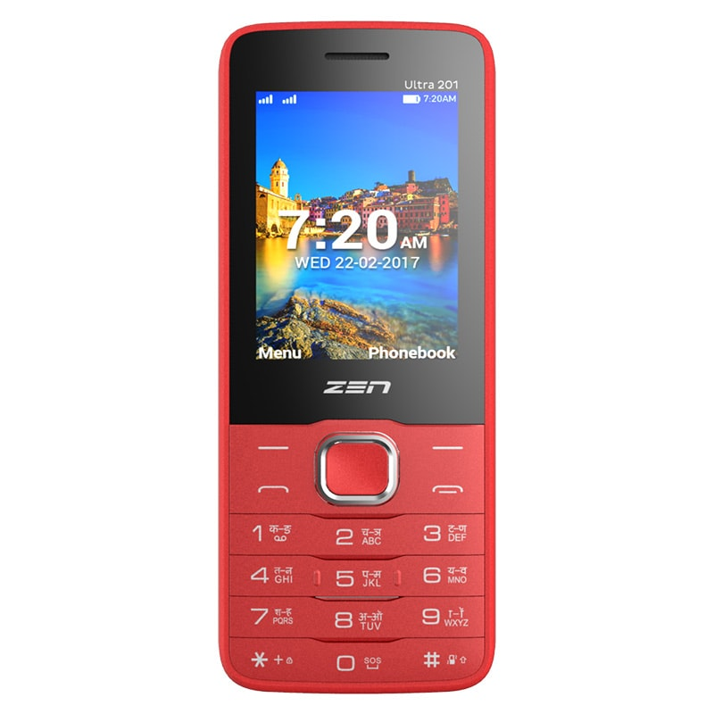 Zen Ultra 201 Dual SIM Feature Phone Black and Red Price ...