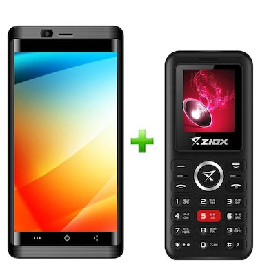 Ziox Astra Curve 4G+Ziox Starz Rocker Combo (Black and Red, 2GB RAM, 16GB) Price in India