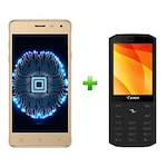 Buy Ziox Astra Viva 4G+Ziox Starz Edge Plus Combo Champagne and Red Online