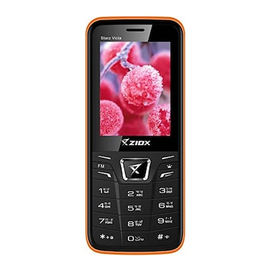 Ziox Starz Victa 2.4 Inch Display, Torch Wireless FM | Dual SIM (Black and Red) Price in India
