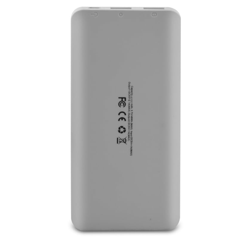 Zodin ZS-420L Power Bank 4200 mAh White and Grey images, Buy Zodin ZS-420L Power Bank 4200 mAh White and Grey online at price Rs. 499