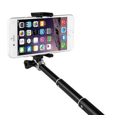 Zoook ZB-SFKR Bluetooth Selfie Stick With Detachable Remote Black Price in India
