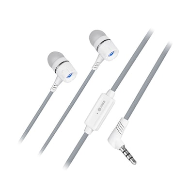 Zoook ZM-E4M In The Ear Headset With Mic Silver Price in India