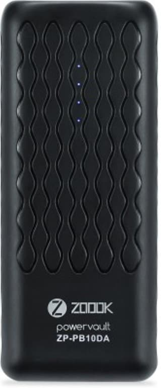 Zoook ZP-PB10DA 10000 mAh Portable Powerbank Black Price in India