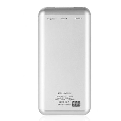 Zoook ZP-PB10MP+ Power Bank 10000 mAh Silver Price in India