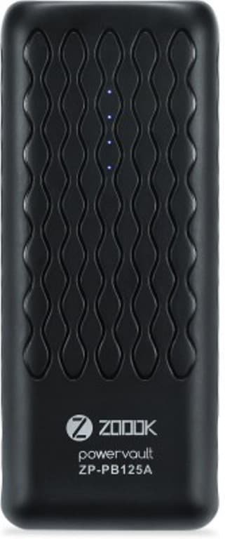 Buy Zoook ZP-PB125A 12500 mAh Portable Powerbank Black online