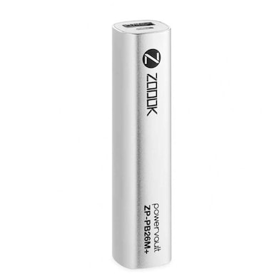 Zoook ZP-PB26M+ Power Bank 2600 mAh Silver Price in India