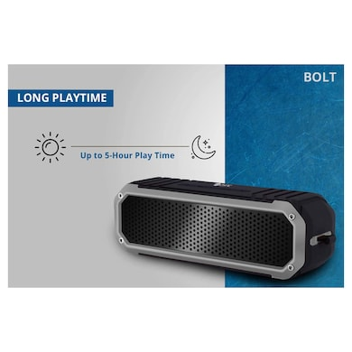 Zync Bolt IPX5 Portable Bluetooth Speakers with Water-Resistant, Hands-Free Wireless MP3 Music Playe Black Price in India