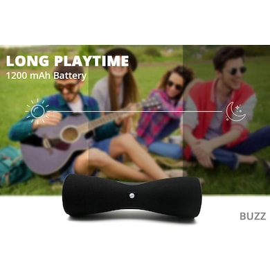 Zync Buzz Bluetooth Portable Speaker with USB/AUX in/Micro SD Card/FM Black Price in India