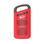 Buy Zync Clip Wireless Mini Portable Bluetooth Speaker with Aux in/TF Card Reader/Mic Red Online