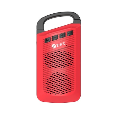 Zync Clip Wireless Mini Portable Bluetooth Speaker with Aux in/TF Card Reader/Mic Red Price in India