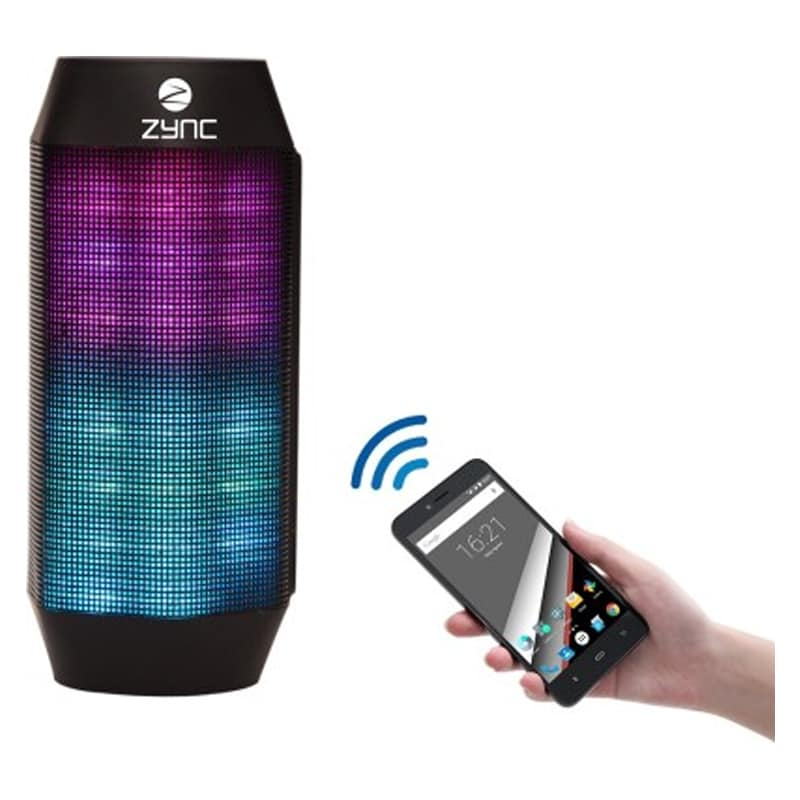 Buy Zync K20 Fuzon Bluetooth Speaker with LED Lights and Power Bank Black online