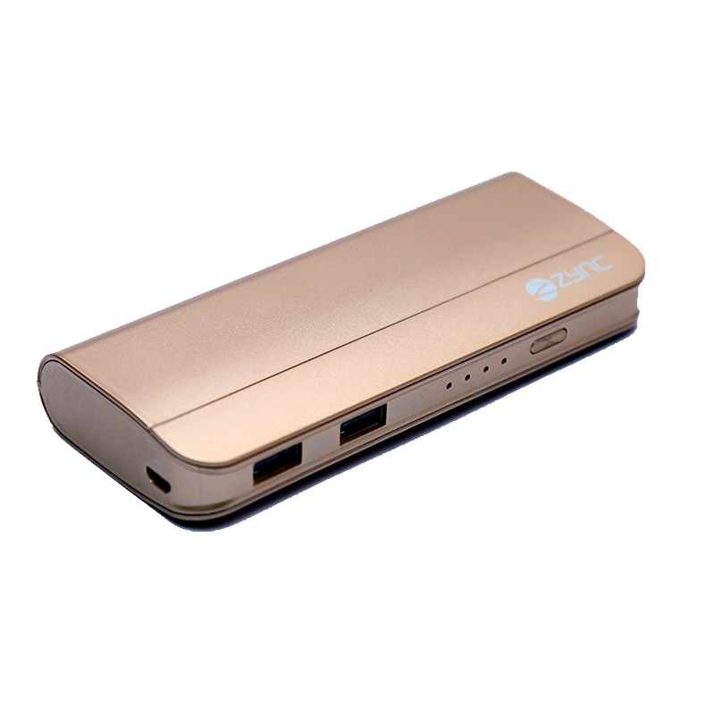 Zync PB999 Elegant Power Bank 10400 mAh Golden images, Buy Zync PB999 Elegant Power Bank 10400 mAh Golden online at price Rs. 1,299