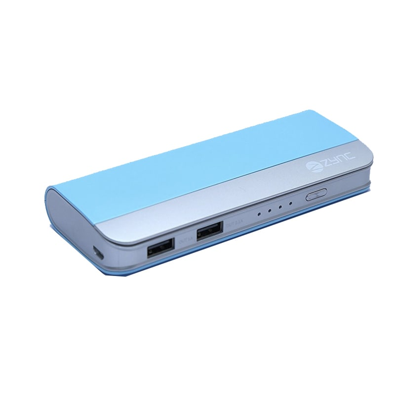 Buy Zync PB999 Elegant Power Bank 10400 mAh Sky Blue online